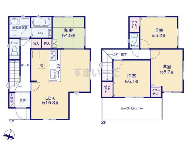 リナージュ 京都市北区衣笠開キ町の見取り図
