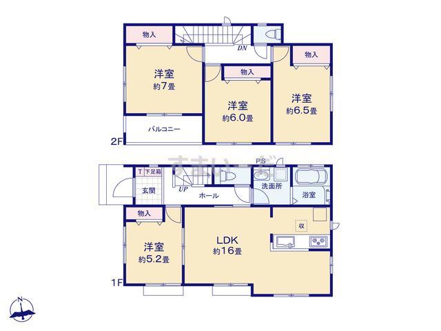 ハートフルタウン 富山市経堂2期の見取り図