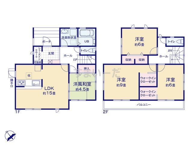 リーブルガーデン 加古川北芳苑2期の見取り図