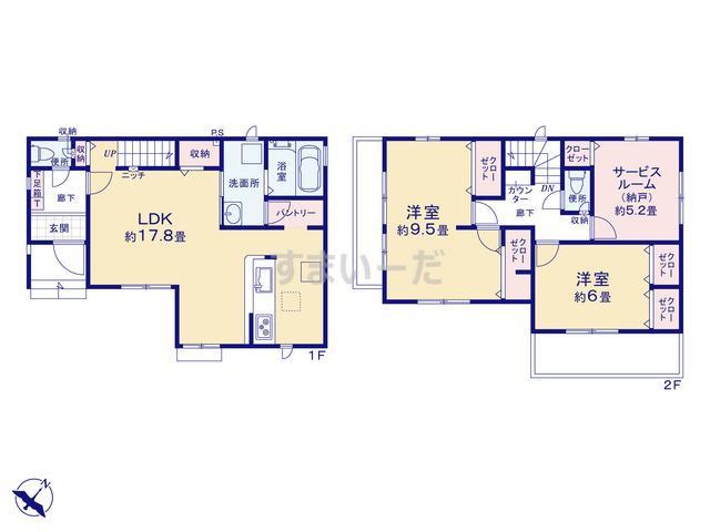 グラファーレ 新座市大和田7期2棟の見取り図
