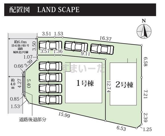 グラファーレ 掛川市城西2期2棟の見取り図
