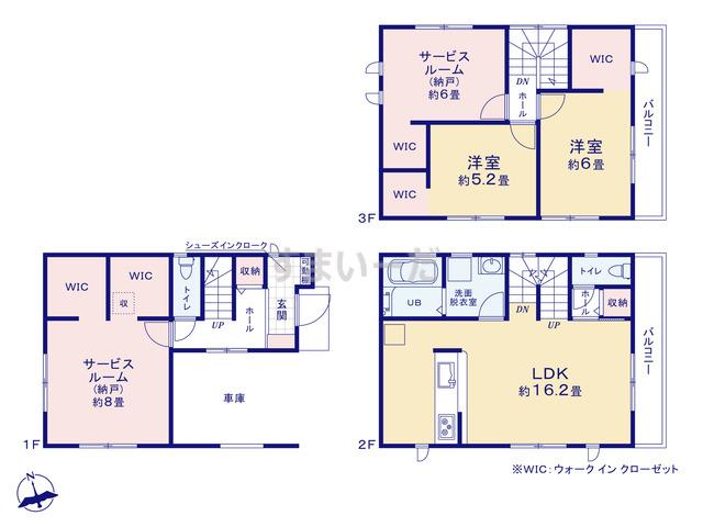 リーブルガーデン 堺堺区桜之町東の見取り図