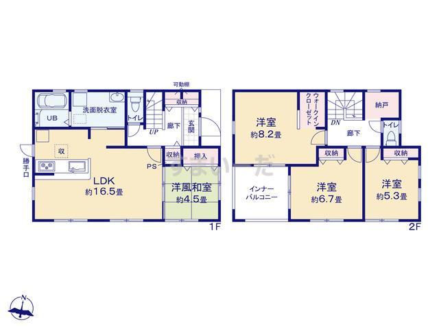 リーブルガーデン 小野市上本町2期の見取り図