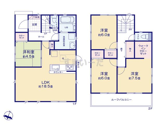 リナージュ 名古屋市緑区鴻仏目19-1期の見取り図