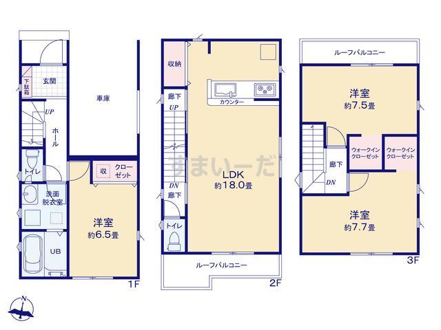 リナージュ 堺市西区浜寺船尾町西18-1期の見取り図