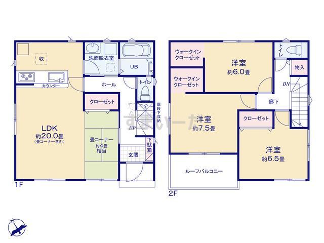 リナージュ 岡崎市大和町19-2期の見取り図