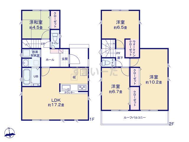 リナージュ 名古屋市南区源兵衛町19-1期の見取り図