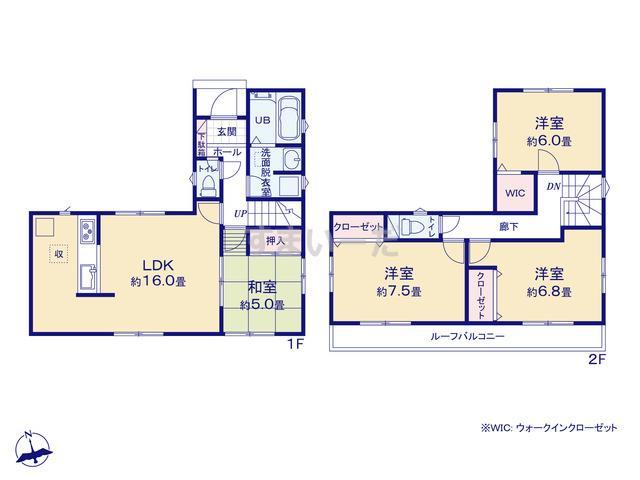 リナージュ 富士市今泉19-1期4棟の見取り図