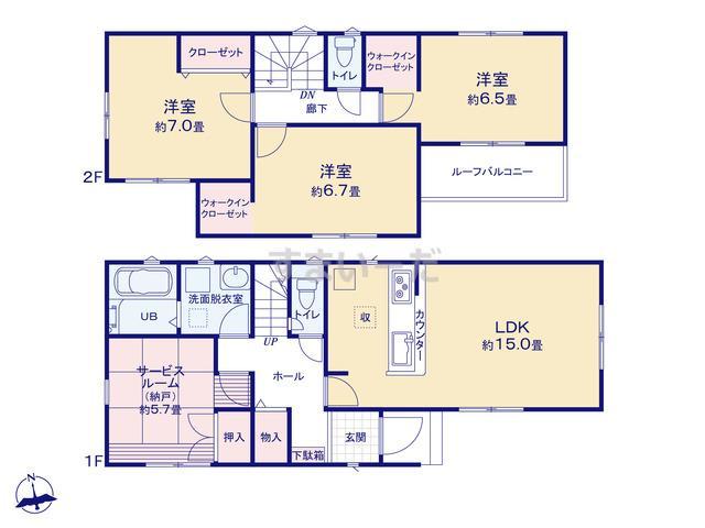 リナージュ 神戸市垂水区多聞台18-2期の見取り図