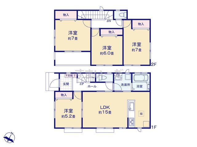 ハートフルタウン 富山市高屋敷1期の見取り図