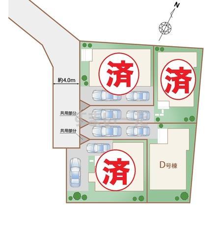 ハートフルタウン 入間東藤沢5期の見取り図