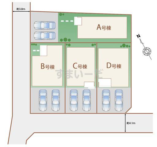 ハートフルタウン 名護市屋部の見取り図