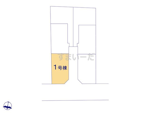 グラファーレ 清瀬市竹丘2期6棟の見取り図
