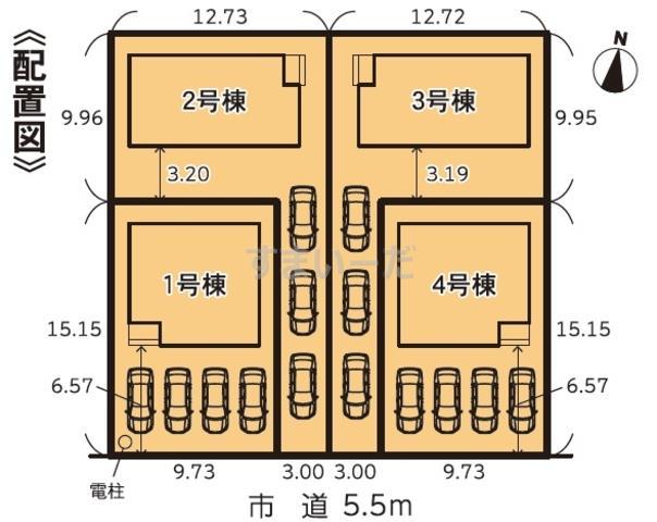 グラファーレ 掛川市中宿2期4棟の見取り図