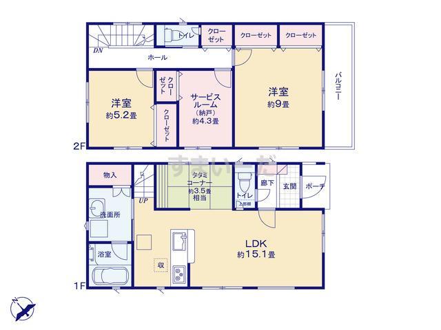 クレイドルガーデン 名古屋市天白区御前場町 第4の見取り図