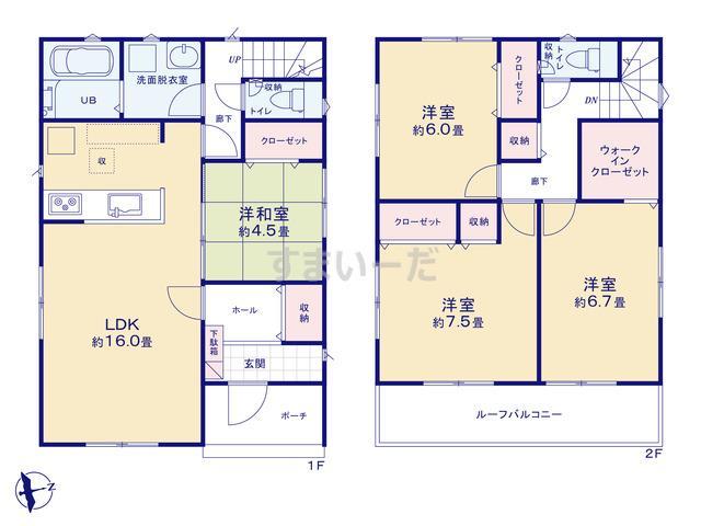 リナージュ 浜松市中区城北19-1期の見取り図