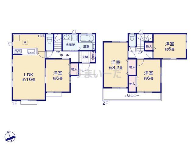 ハートフルタウン 富士市今泉7期の見取り図