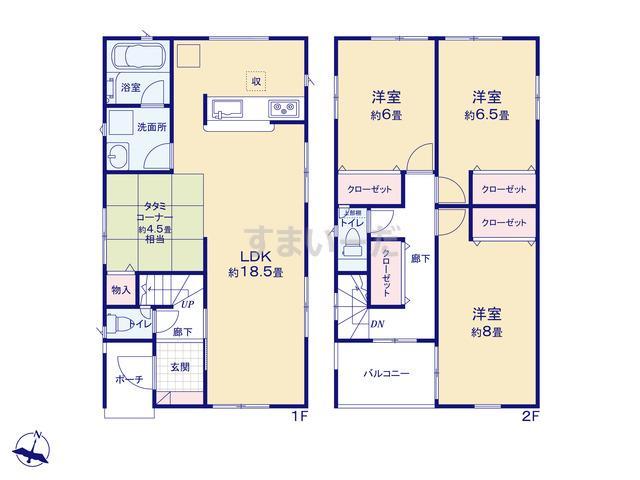 クレイドルガーデン 神戸市垂水区青山台 第4の見取り図