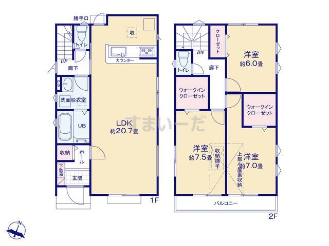 リナージュ 羽村市富士見平19-1期の見取り図