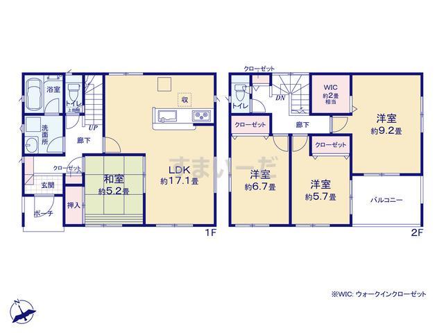 クレイドルガーデン 加須市花崎 第2の見取り図