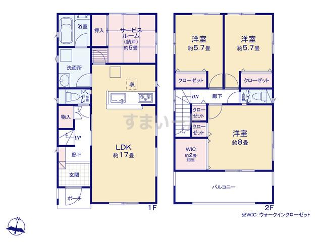 クレイドルガーデン 岡崎市藤川台 第3の見取り図