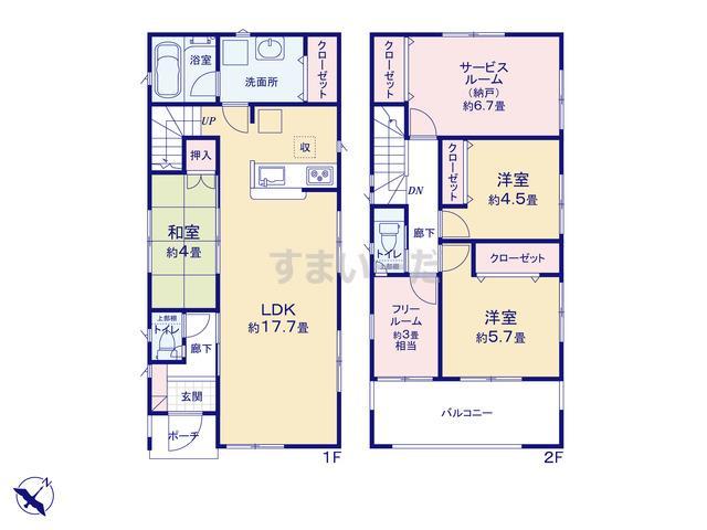 クレイドルガーデン 名古屋市天白区島田 第6の見取り図