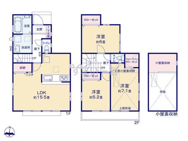 グラファーレ 小金井市梶野町5期2棟の見取り図