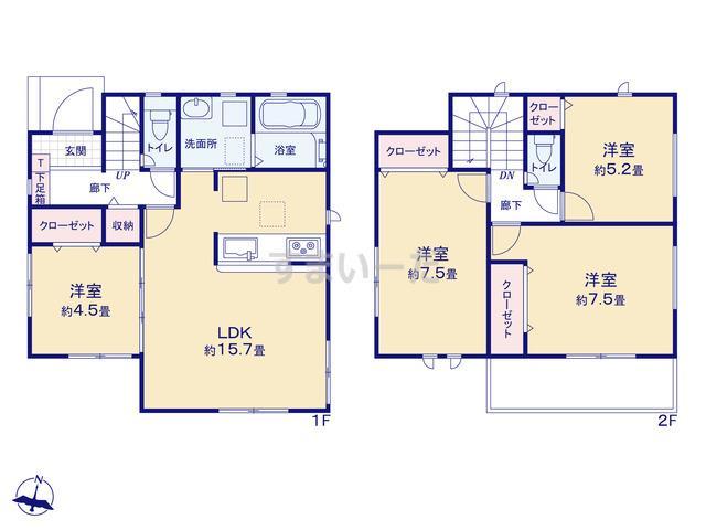 グラファーレ 名古屋市豊田2期4棟の見取り図