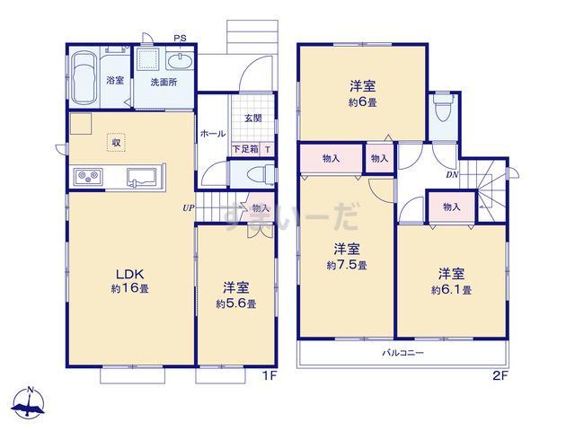 ハートフルタウン 伊豆の国原木5期の見取り図