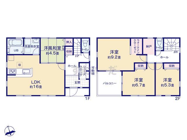 リーブルガーデン 古川大宮第3の見取り図