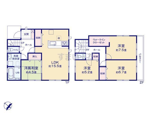 リーブルガーデン 枚方市東香里元町2期の見取り図