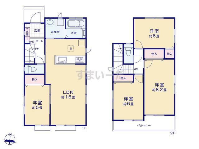 ハートフルタウン 伊豆の国古奈6期の見取り図