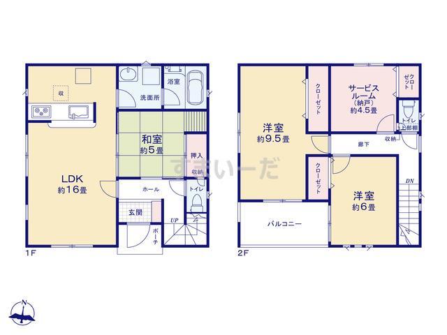 クレイドルガーデン 名古屋市名東区香坂 第2の見取り図
