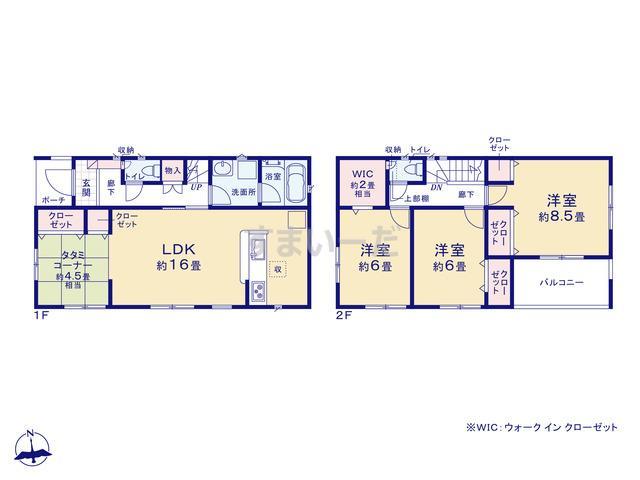 クレイドルガーデン 堺市美原区多治井 第3の見取り図
