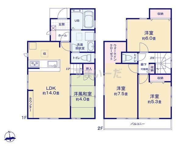 リーブルガーデン 小金井市貫井南町の見取り図