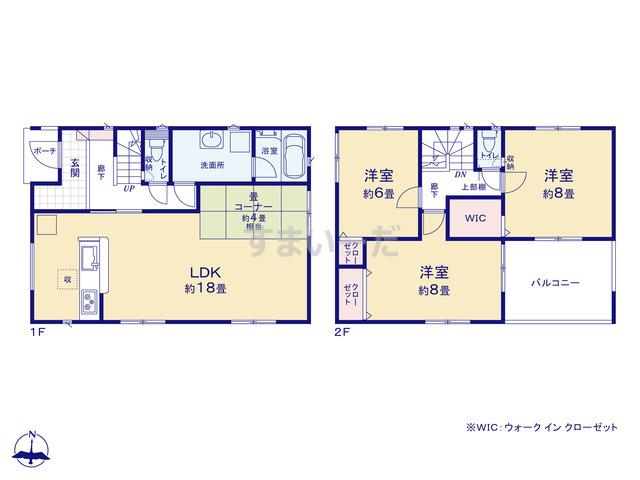クレイドルガーデン 浜松市中区上浅田 第1の見取り図