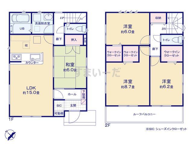 リナージュ 桶川市坂田東19-1期の見取り図