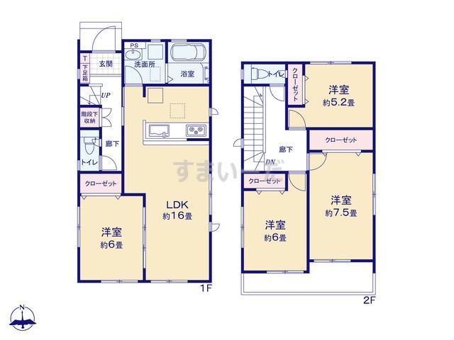グラファーレ 福岡市野多目2期4棟の見取り図