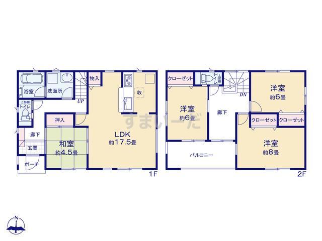 クレイドルガーデン 豊川市堺町 第2の見取り図