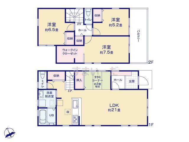 リーブルガーデン 豊川市駅前通3丁目の見取り図