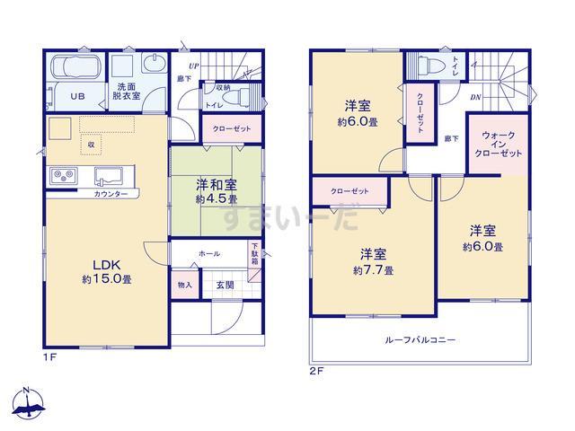 リナージュ 安城市藤井町19-1期の見取り図