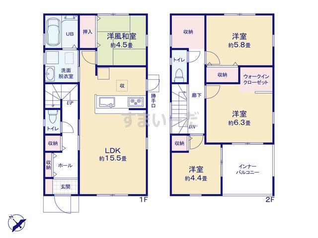 リーブルガーデン 須磨区高倉台2期の見取り図