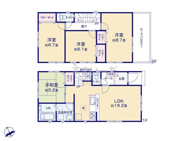 リナージュ 岡崎市東大友町19-1期の見取り図