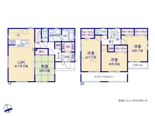 リナージュ 加須市南篠崎18-1期の見取り図