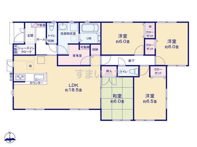リナージュ 加須市三俣19-1期の見取り図