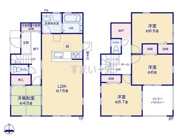 リーブルガーデン 豊田第32西岡町の見取り図