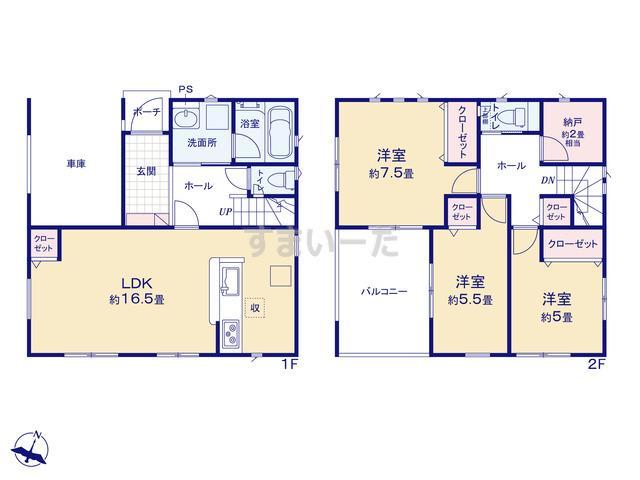 クレイドルガーデン 名古屋市南区本地通 第1の見取り図