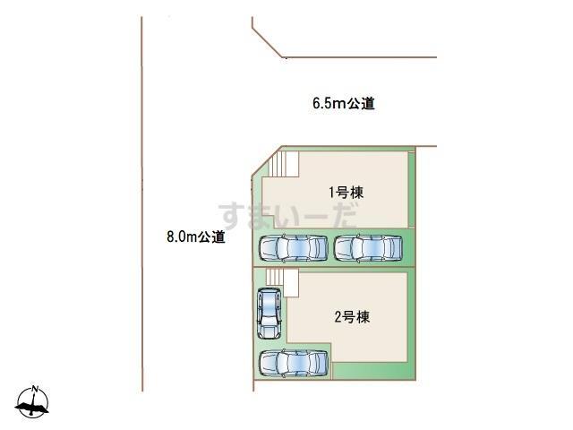 ハートフルタウン 緑区若田の見取り図