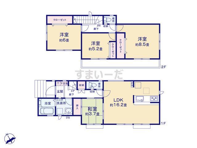 グラファーレ 川崎市西野川9棟の見取り図