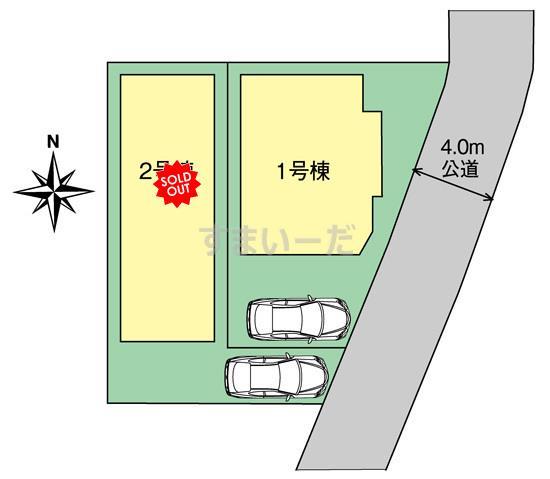 ブルーミングガーデン 枚方市片鉾本町2棟の見取り図